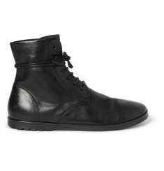 Marsell Textured-Leather Lace-Up Boots