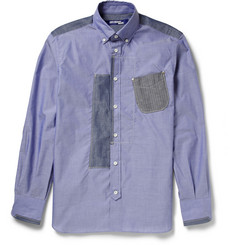 Junya Watanabe Patchwork Cotton-Chambray Shirt