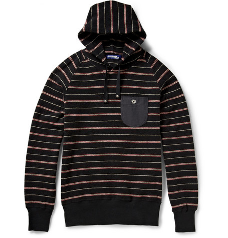 Junya Watanabe Striped Cotton Hoodie