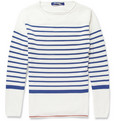 Junya Watanabe Striped Knitted-Cotton Sweater