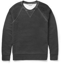 Balenciaga Coated Bonded Cotton-Jersey Sweatshirt