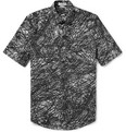 Balenciaga Printed Short-Sleeved Cotton Shirt