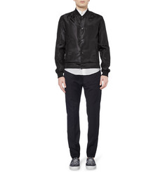 Balenciaga Silk and Wool-Blend Bomber Jacket