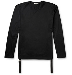 Balenciaga Long-Sleeved Cotton-Jersey and Faille T-Shirt