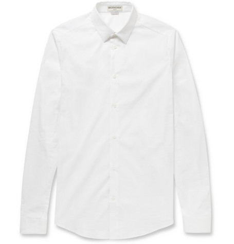 Balenciaga Slim-Fit Cotton-Blend Poplin Shirt