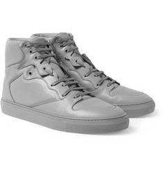 Balenciaga Panelled Leather High Top Sneakers