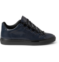 Balenciaga Arena Embossed-Leather Sneakers