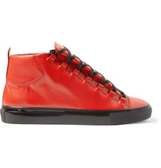 Balenciaga Arena Embossed-Leather High Top Sneakers