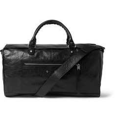 Balenciaga Medium Squash Creased-Leather Holdall Bag