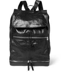 Balenciaga Large Creased-Leather Backpack