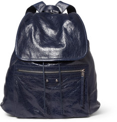 Balenciaga Medium Creased-Leather Backpack