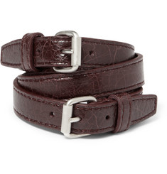 Balenciaga - Wrapped Creased-Leather Bracelet