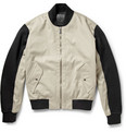 McQ Alexander McQueen Colour-Block Twill and Cotton Bomber Jacket