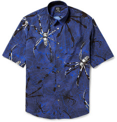 McQ Alexander McQueen Spider and Web-Print Cotton Shirt