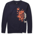 McQ Alexander McQueen - Printed Panelled Loopback Cotton-Jersey Sweatshirt