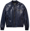 McQ Alexander McQueen - Leather Bomber Jacket