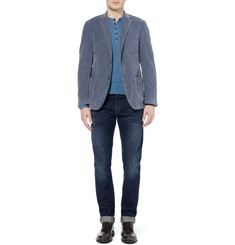 Massimo Alba Slim-Fit Unstructured Washed-Corduroy Blazer