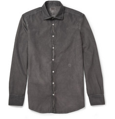 Massimo Alba Overdyed Check Cotton Shirt