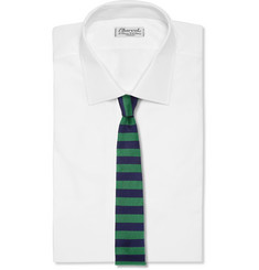 Burberry Prorsum Striped Woven-Silk Tie