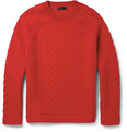 Burberry Prorsum Patterned Cashmere-Blend Sweater