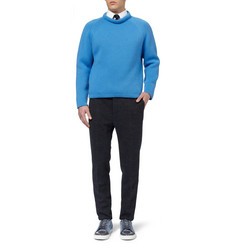 Burberry Prorsum Slim-Fit Wool-Blend Textured-Jersey Trousers