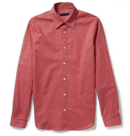 Burberry Prorsum Polka Dot-Print Cotton Shirt