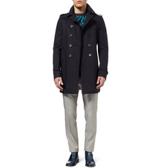 Burberry Prorsum Double-Breasted Cotton-Gabardine Trench Coat