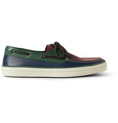 Burberry Prorsum Colour-Block Leather Boat Shoes
