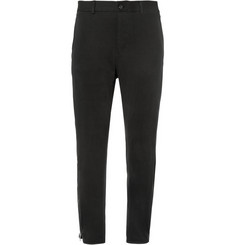Alexander McQueen Slim-Fit Cotton and Cashmere-Blend Jersey Trousers