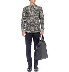 Alexander McQueen Slim-Fit Skull-Print Cotton Shirt