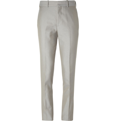 Alexander McQueen Slim-Fit Panama-Cotton Trousers