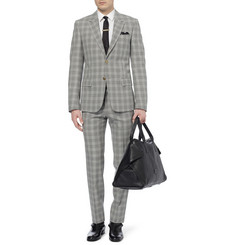 Alexander McQueen Slim-Fit Houndstooth Check Wool Suit