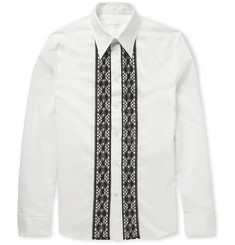 Alexander McQueen Lace-Panelled Silk and Cotton-Blend Shirt