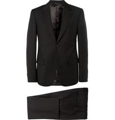 Alexander McQueen Black Slim-Fit Wool and Mohair-Blend Suit