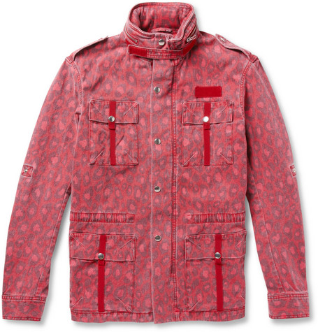 Michael Bastian Printed Cotton-Blend Field Jacket