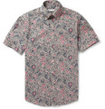 Michael Bastian - Printed Cotton Short Sleeved Shirt
