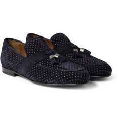 Jimmy Choo Bevan Printed Tasselled Suede Loafers