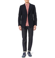 Aspesi Slim-Fit Textured-Cotton Blazer