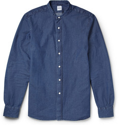 Aspesi Grandad-Collar Denim Shirt
