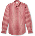 Aspesi - Button-Down Collar Check Cotton Seersucker Shirt