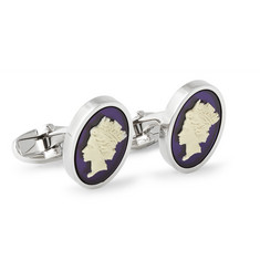 Paul Smith Shoes & Accessories Queen Cameo Steel-Plated Resin Cufflinks