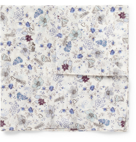Paul Smith Shoes & Accessories Printed Cotton Handkerchief