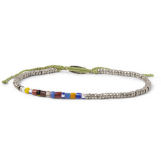 Paul Smith Shoes & Accessories Silver and Glass Bead Bracelet