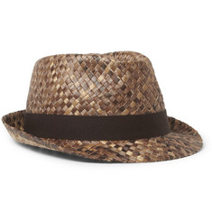 Paul Smith Shoes & Accessories Woven Straw Fedora Hat