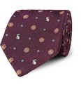 Paul Smith - Rabbit and Flower-Embroidered Silk Tie