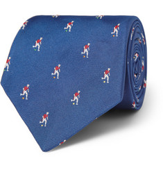 Paul Smith Shoes & Accessories Footballer-Embroidered Silk Tie