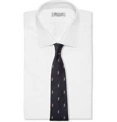 Paul Smith Shoes & Accessories Cyclist-Embroidered Silk Tie