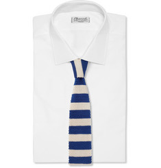 Paul Smith Shoes & Accessories Striped Knitted-Silk Tie