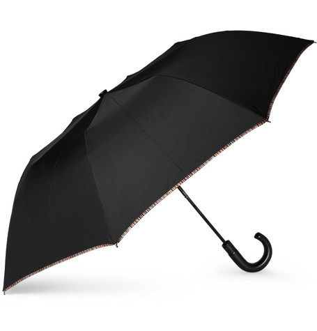 Paul Smith Shoes & Accessories Stripe-Trimmed Collapsible Umbrella