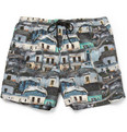 Paul Smith - Printed Short-Length Swim Shorts